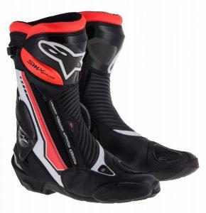 Alpinestars SMX Plus Boots - Black/White/Red Fluro