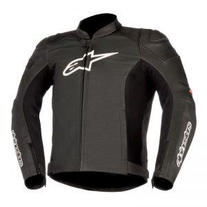 Black Alpinestars GP Plus R V2 Airflow Leather Jacket