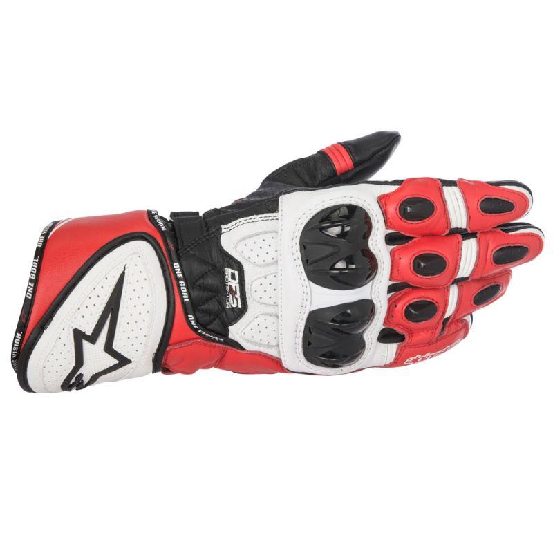 Black/White/Red Alpinestars GP Plus R Leather Glove