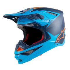 Alpinestars Supertech M10 Meta Helmet Black/Aqua/Orange Fluro