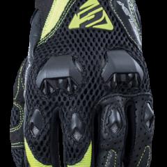 Black/Fluro YellowFive Stunt Evo Airflow Glove