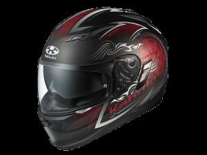 Blaze Black/Red Kabuto Kamui Helmet