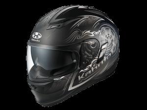 Blaze Black/Silver Kabuto Kamui Helmet