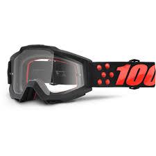 Gernica + Clear Lens 100% Accuri Goggle