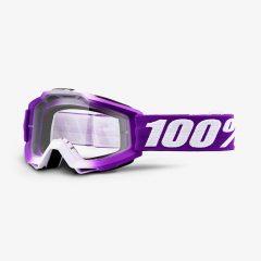 Framboise + Clear Lens 100% Accuri Goggle