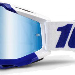 Galgary Blue + Mirror Blue Lens 100% Accuri Goggle