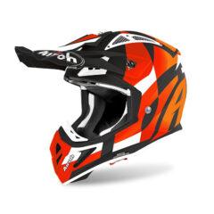 Trick Orange Matt Airoh Aviator Ace Helmet Left