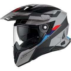 Matt Grey/Black Airoh Commander Helmet Left