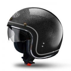 Black Glitter Airoh Riot Helmet