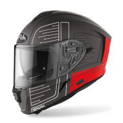 Cyrcuit Red Matt Airoh Spark Helmet Left