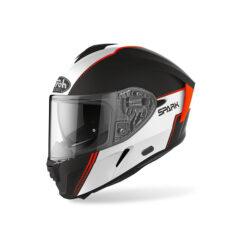 Flow Orange Matt Airoh Spark Helmet Left