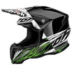 Spot Gloss Black/White/Green Airoh Twist Helmet