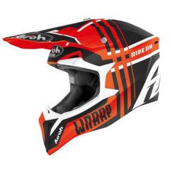 Broken Orange Matt Airoh Wraap Helmet Left