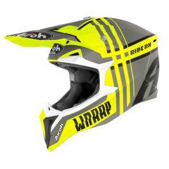 Broken Yellow Matt Airoh Wraap Helmet Left
