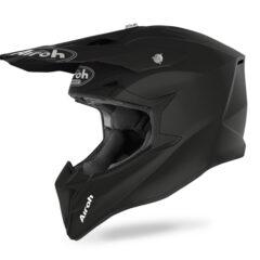 Black Matt Airoh Wraap Helmet Left
