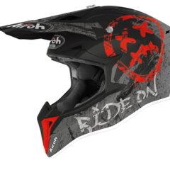 Smile Red Matt Airoh Wraap Helmet Left