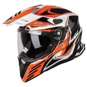 Carbon Orange Gloss Airoh Commander Helmet