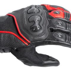Black/Red DriRider Air-Ride 2 Short Cuff Mens Glove