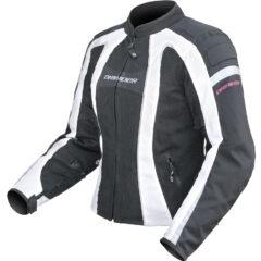 Black/White DriRider Airstream Ladies Jacket