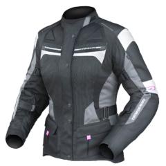 Black/White/Grey DriRider Apex 4 Airflow Ladies Jacket