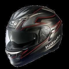 Kabuto Kamui Helmet in Fluente Black/Silver