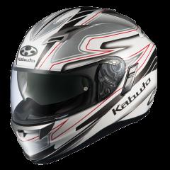 Fluente White/Silver Kabuto Kamui Helmet