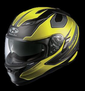 Stinger Matt Black/Fluro Yellow Kabuto Kamui Helmet