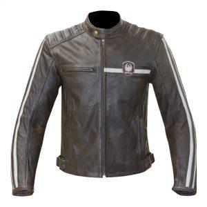 Brown Merlin Derrington Leather Jacket