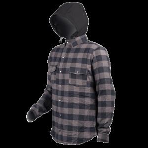 Black/Grey MotoDry Hunter Hoody Jacket