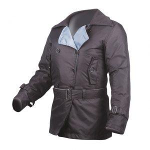 Black MotoDry Ladies Trench Jacket