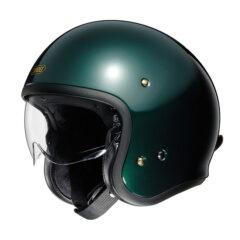 British Green Shoei J.O Helmet Side
