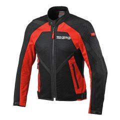 Black/Red Spidi Netstream Summer Mesh Jacket
