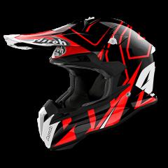 Shock Red Gloss Airoh Terminator Open Vision Helmet
