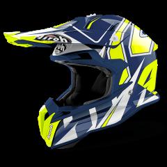 Shock Blue Gloss Airoh Terminator Open Vision Helmet
