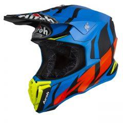 Great Blue Matt Airoh Twist Helmet