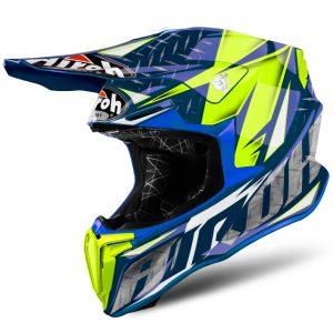 Iron Blue Gloss Airoh Twist Helmet