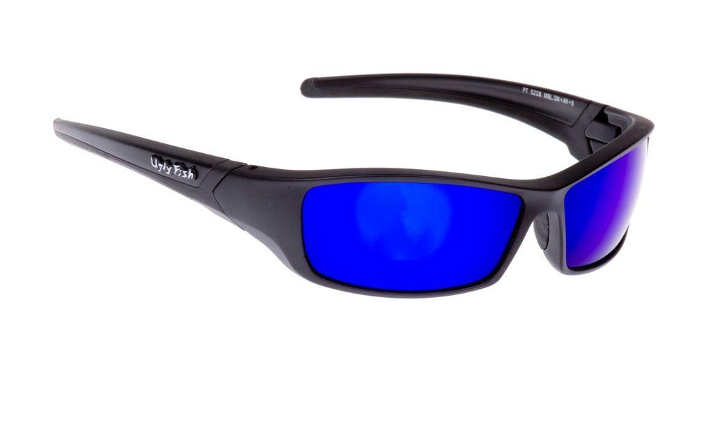 2579270d4ffc Ugly Fish RS5228 Glasses - Matt Black Frame + Blue Revo Lens ...