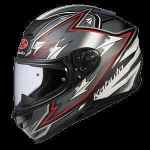 Yajiri Matt Black/RedKabuto Aeroblade 5 Helmet