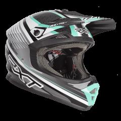 Black/White/Teal RXT Zeneth II Helmet